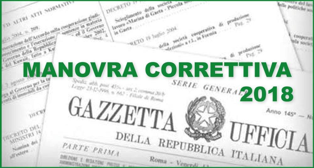 MANOVRA CORRETTIVA 2018: TUTTE LE NOVITÀ