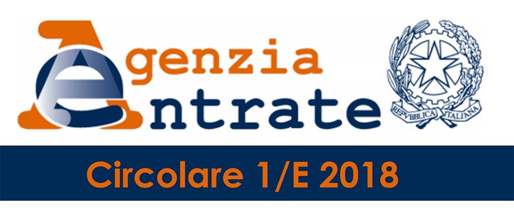 DETRAZIONE IVA 2018 – CHIARIMENTI CIRCOLARE AGENZIA ENTRATE 1-2018